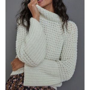 Anthropologie Maeve Dionne Bell-Sleeved Sweater